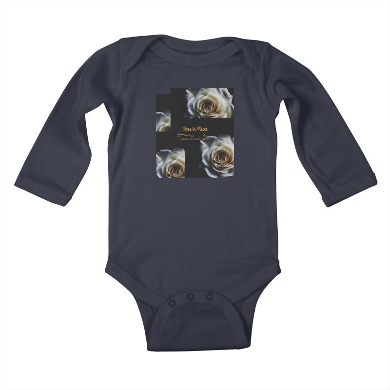 Pieces Of A Rose Kids Baby Longsleeve Bodysuit by ChristGang Apparel