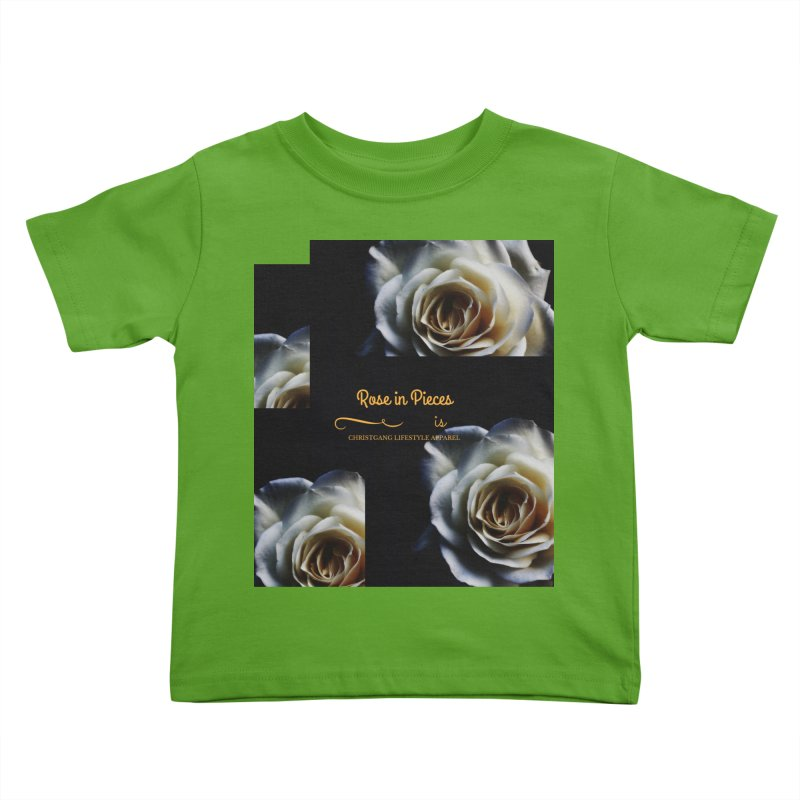 Pieces Of A Rose Kids Toddler T-Shirt by ChristGang Apparel