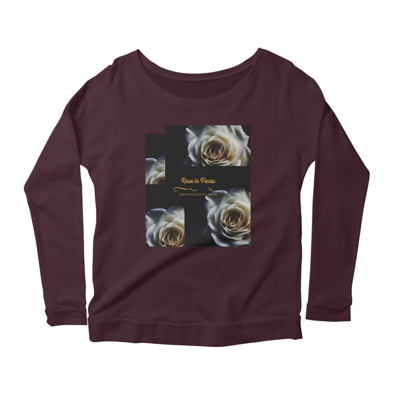 Pieces Of A Rose Women's Scoop Neck Longsleeve T-Shirt by ChristGang Apparel