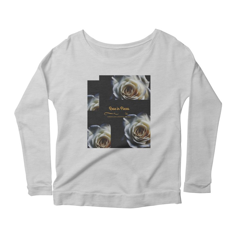 Pieces Of A Rose Women's Longsleeve Scoopneck  by ChristGang Apparel