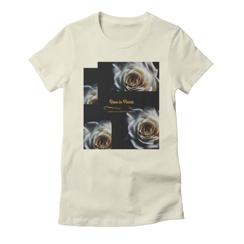 Pieces Of A Rose Women's Fitted T-Shirt by ChristGang Apparel