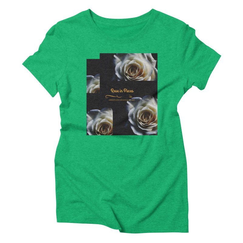 Pieces Of A Rose Women's Triblend T-Shirt by ChristGang Apparel