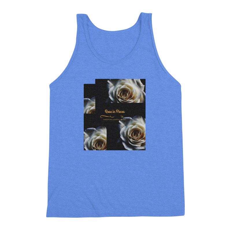 Pieces Of A Rose Men's Triblend Tank by ChristGang Apparel