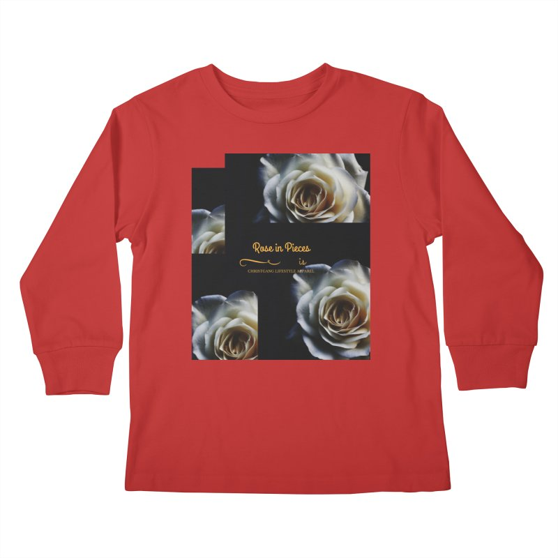 Pieces Of A Rose Kids Longsleeve T-Shirt by ChristGang Apparel