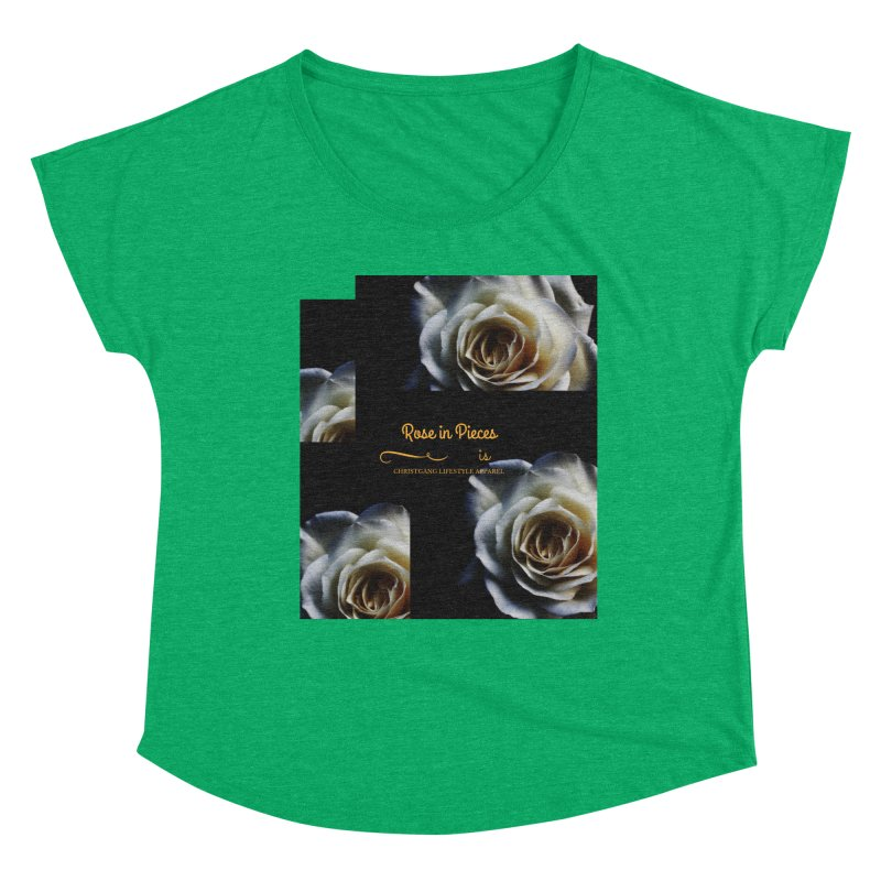 Pieces Of A Rose Women's Scoop Neck by ChristGang Apparel