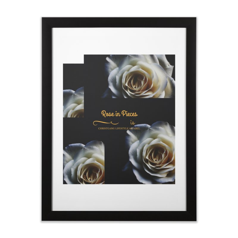 Pieces Of A Rose Home Framed Fine Art Print by ChristGang Apparel