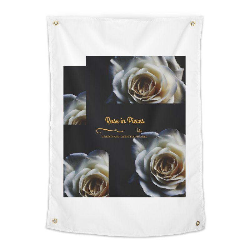 Pieces Of A Rose Home Tapestry by ChristGang Apparel
