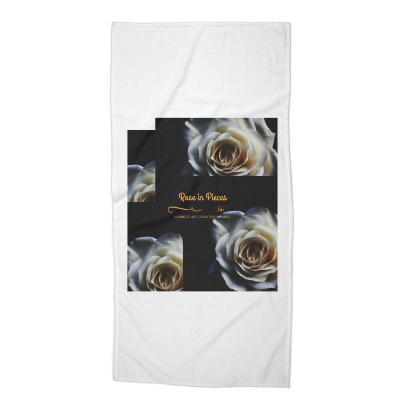 Pieces Of A Rose Accessories Beach Towel by ChristGang Apparel