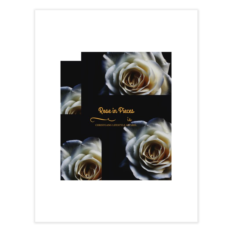 Pieces Of A Rose Home Fine Art Print by ChristGang Apparel