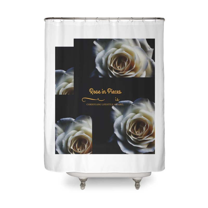 Pieces Of A Rose Home Shower Curtain by ChristGang Apparel