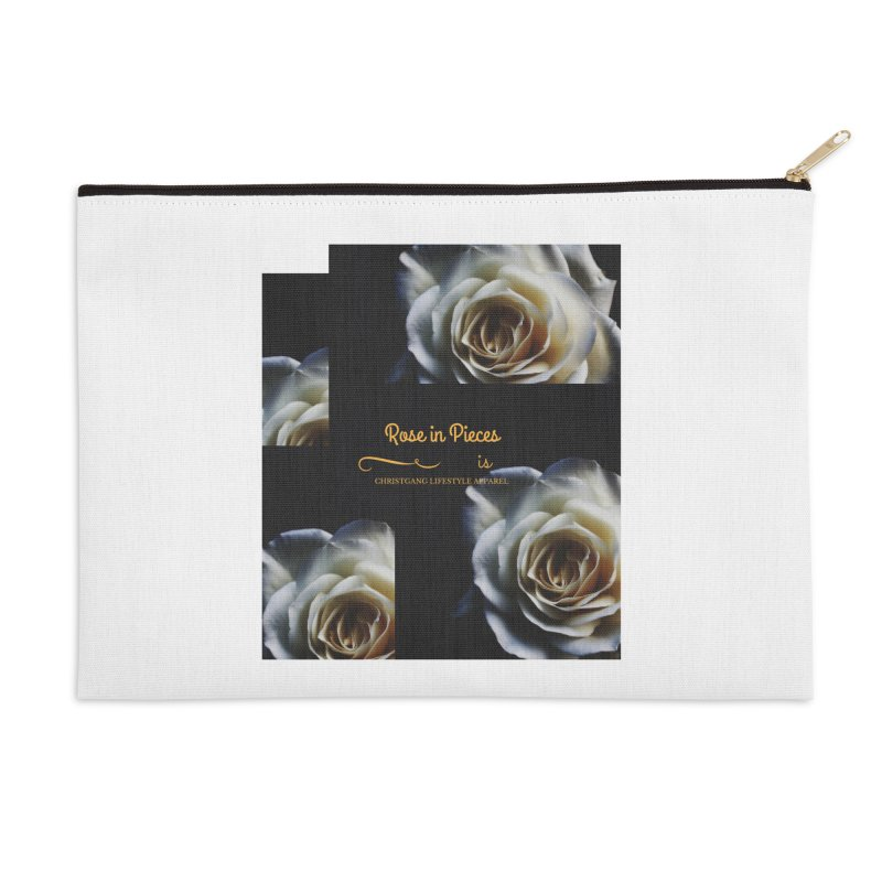 Pieces Of A Rose Accessories Zip Pouch by ChristGang Apparel