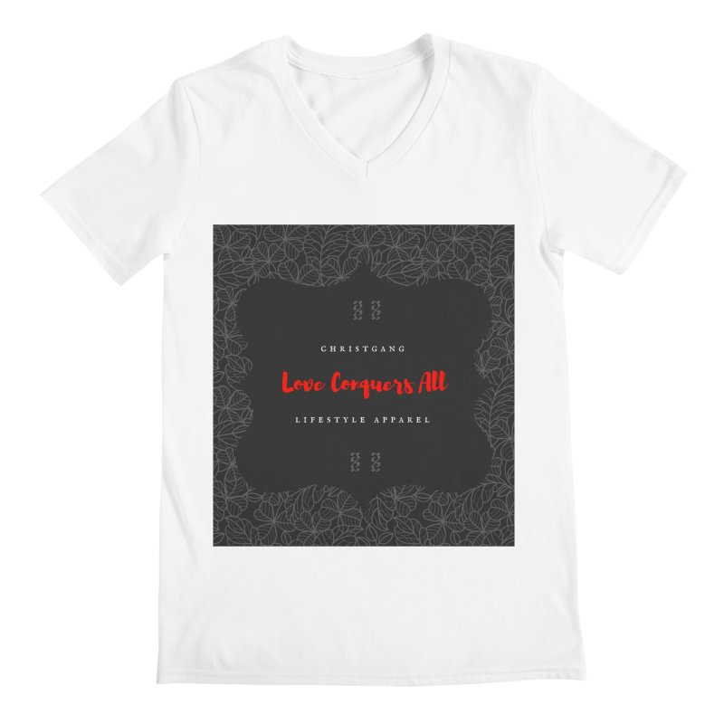 Love Conquers All Men's V-Neck by ChristGang Apparel