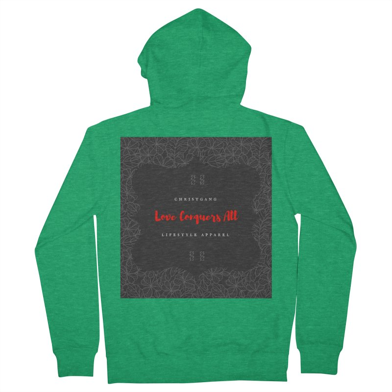 Love Conquers All Men's Zip-Up Hoody by ChristGang Apparel