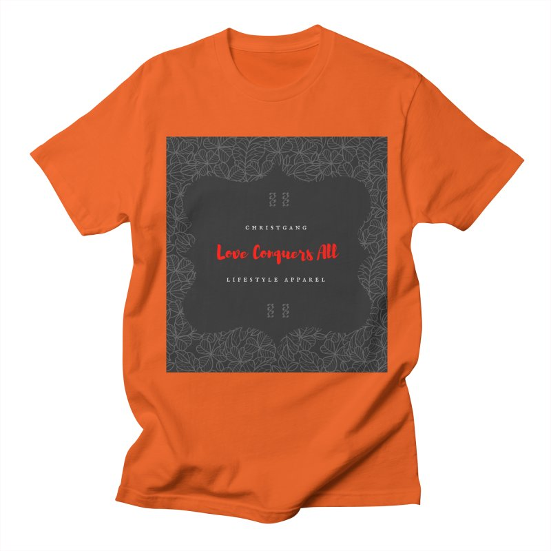 Love Conquers All Men's Regular T-Shirt by ChristGang Apparel