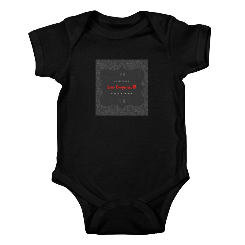 Love Conquers All Kids Baby Bodysuit by ChristGang Apparel