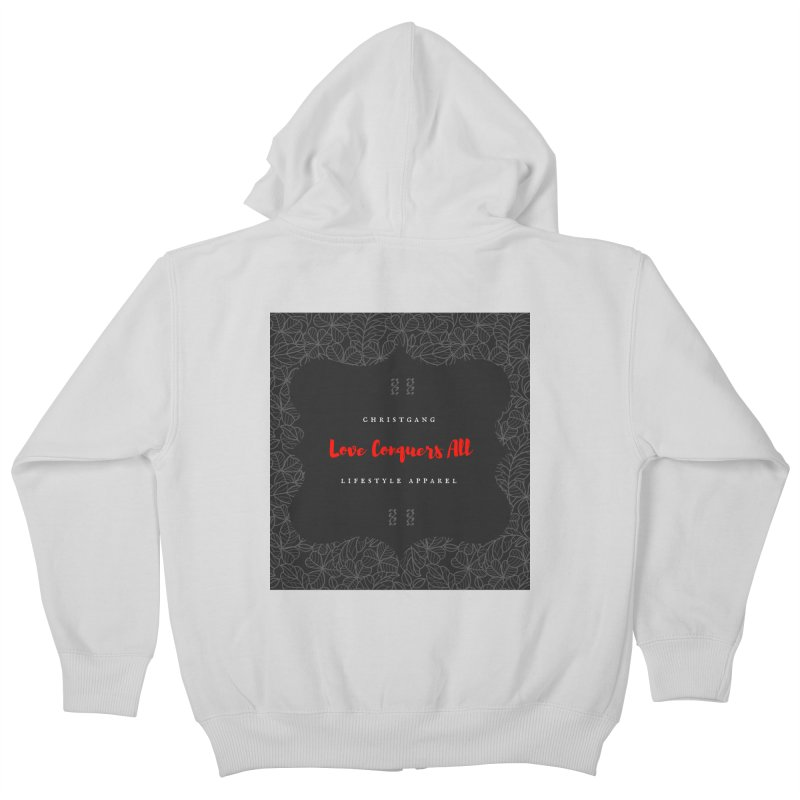 Love Conquers All Kids Zip-Up Hoody by ChristGang Apparel