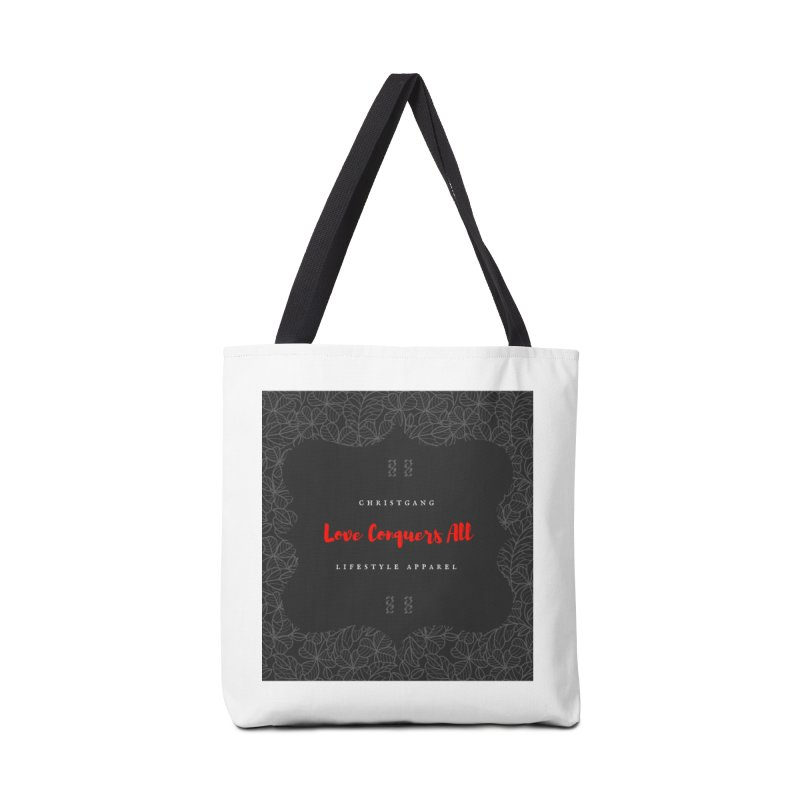 Love Conquers All Accessories Tote Bag Bag by ChristGang Apparel