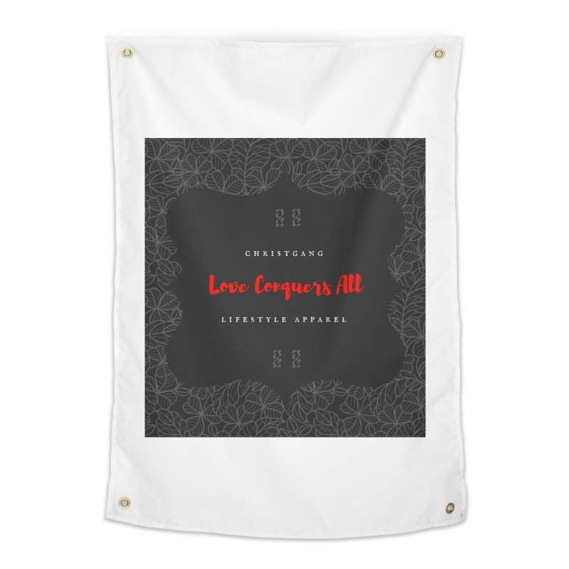 Love Conquers All Home Tapestry by ChristGang Apparel