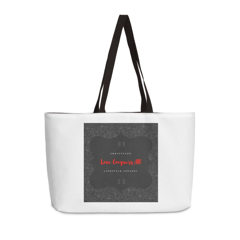 Love Conquers All Accessories Weekender Bag Bag by ChristGang Apparel