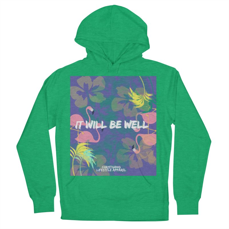 Somewhere In The Tropics Men's French Terry Pullover Hoody by ChristGang Apparel