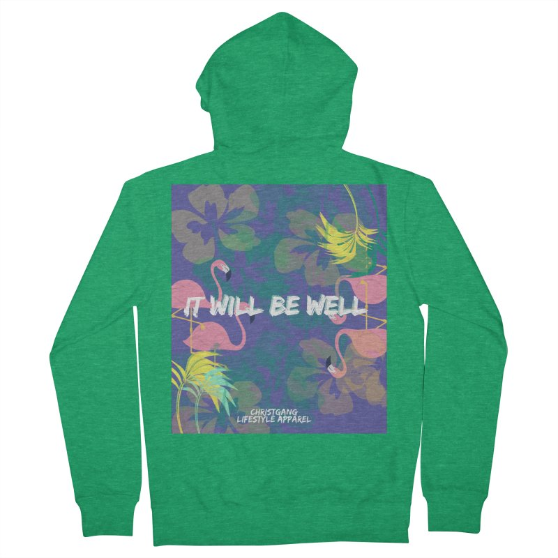 Somewhere In The Tropics Men's Zip-Up Hoody by ChristGang Apparel