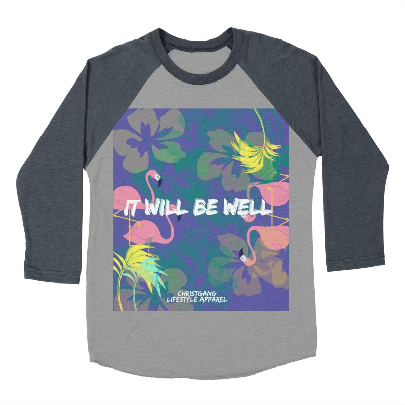 Somewhere In The Tropics Men's Baseball Triblend Longsleeve T-Shirt by ChristGang Apparel