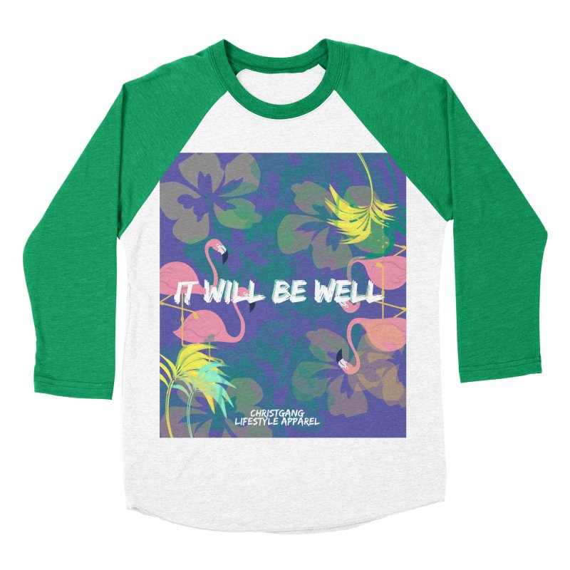 Somewhere In The Tropics Men's Baseball Triblend T-Shirt by ChristGang Apparel