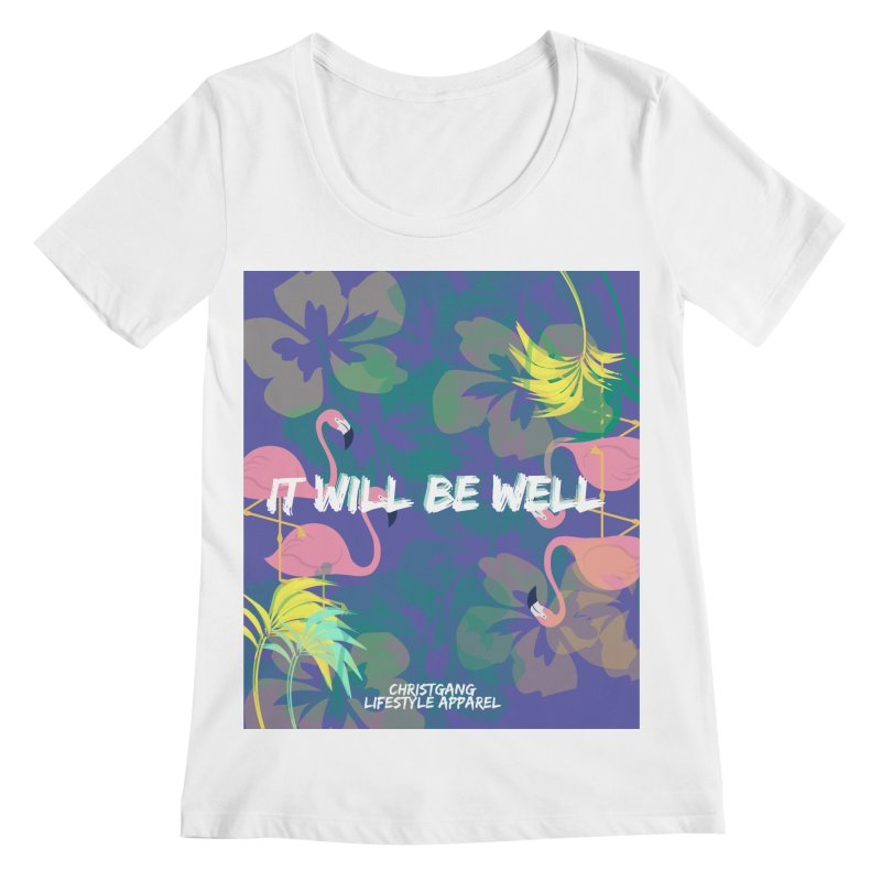 Somewhere In The Tropics Women's Scoopneck by ChristGang Apparel