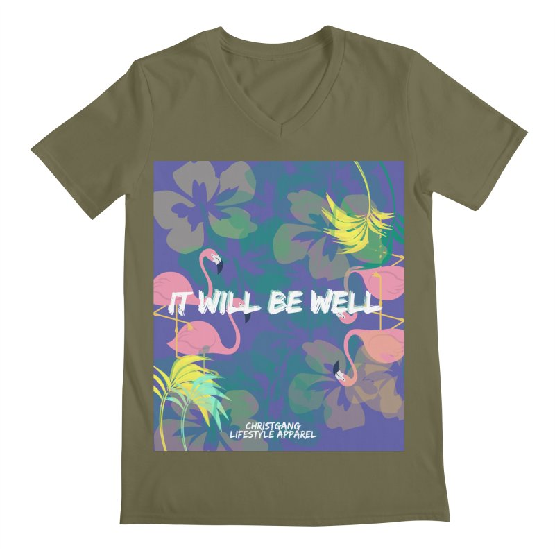 Somewhere In The Tropics Men's V-Neck by ChristGang Apparel