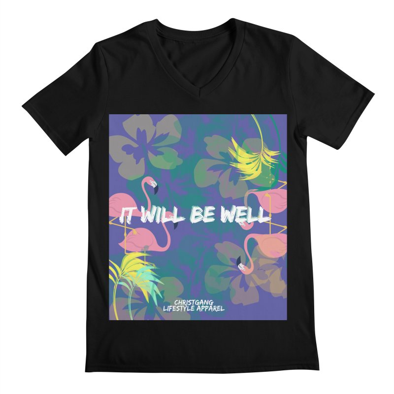 Somewhere In The Tropics Men's Regular V-Neck by ChristGang Apparel