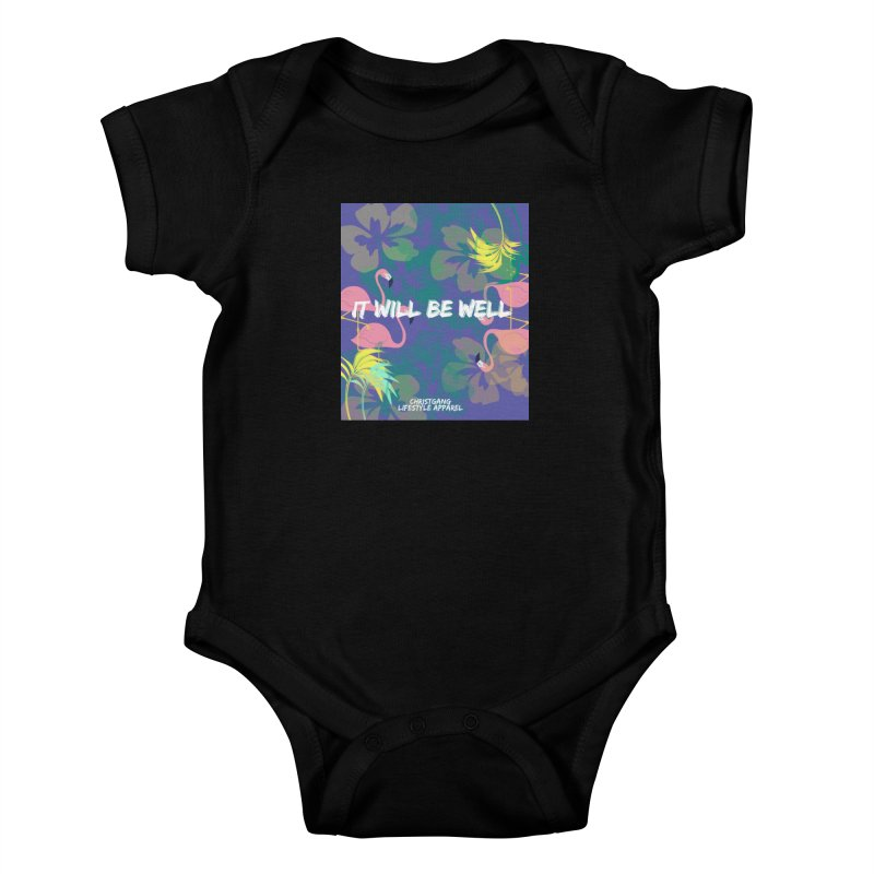 Somewhere In The Tropics Kids Baby Bodysuit by ChristGang Apparel