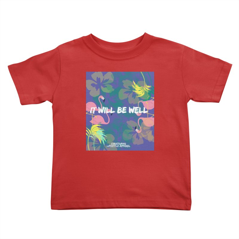 Somewhere In The Tropics Kids Toddler T-Shirt by ChristGang Apparel