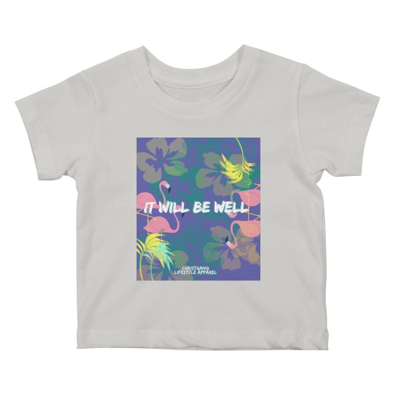 Somewhere In The Tropics Kids Baby T-Shirt by ChristGang Apparel