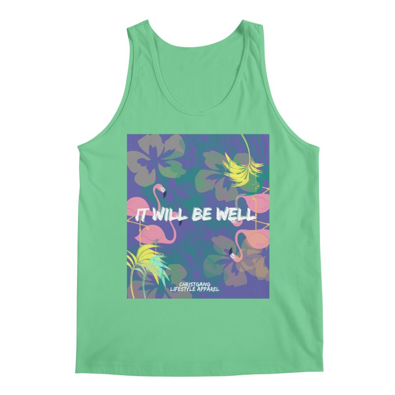 Somewhere In The Tropics Men's Regular Tank by ChristGang Apparel