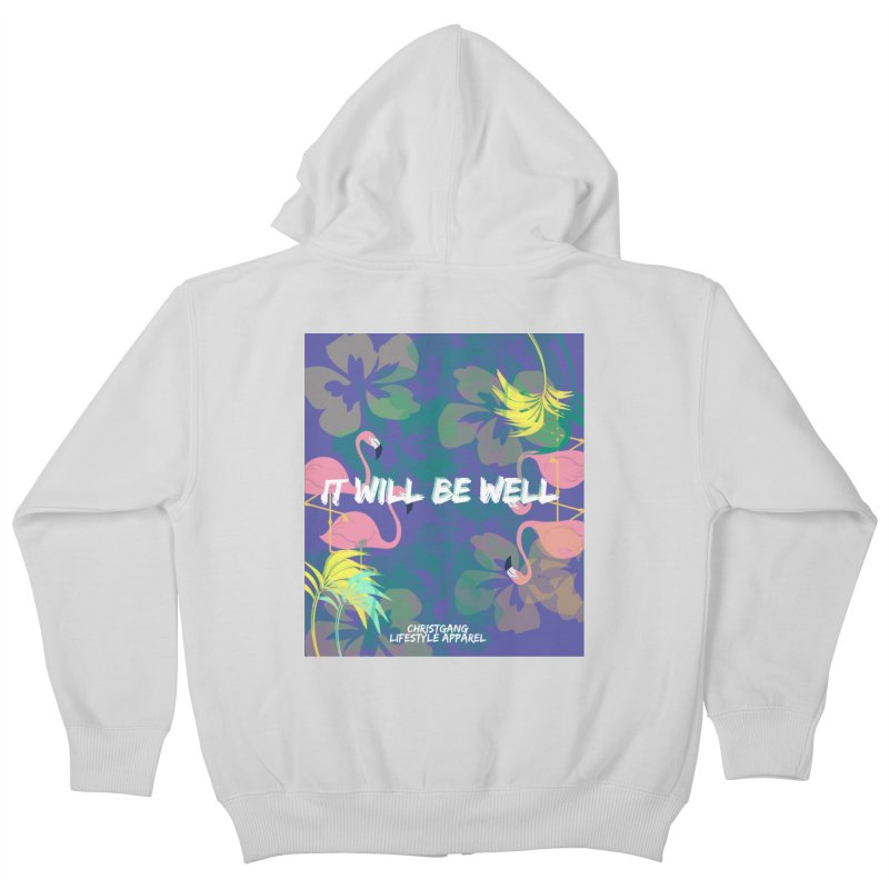 Somewhere In The Tropics Kids Zip-Up Hoody by ChristGang Apparel