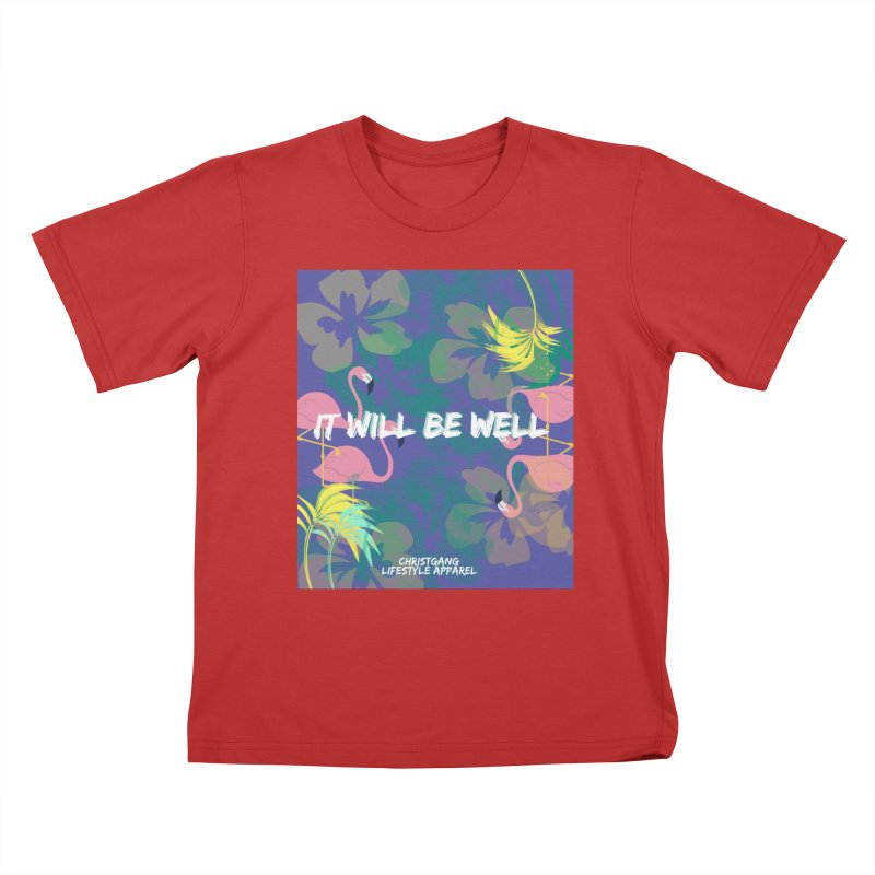 Somewhere In The Tropics Kids T-Shirt by ChristGang Apparel