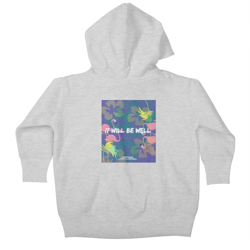 Somewhere In The Tropics Kids Baby Zip-Up Hoody by ChristGang Apparel