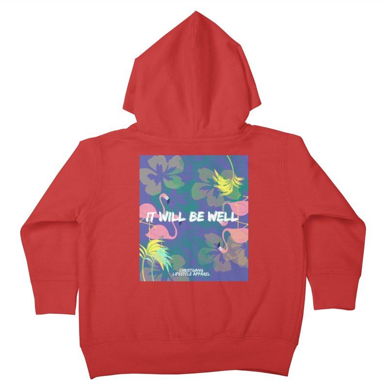 Somewhere In The Tropics Kids Toddler Zip-Up Hoody by ChristGang Apparel