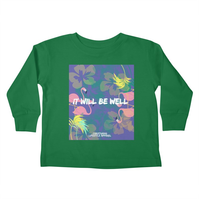 Somewhere In The Tropics Kids Toddler Longsleeve T-Shirt by ChristGang Apparel