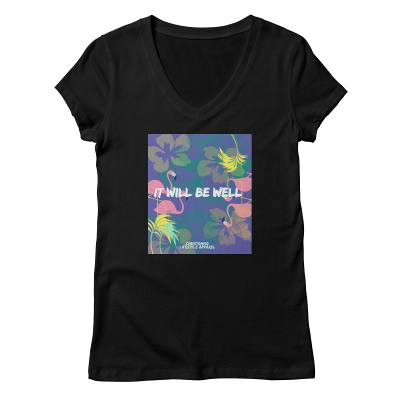 Somewhere In The Tropics Women's V-Neck by ChristGang Apparel