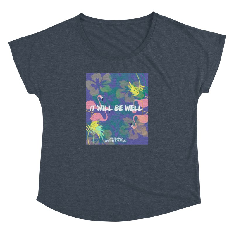 Somewhere In The Tropics Women's Dolman Scoop Neck by ChristGang Apparel