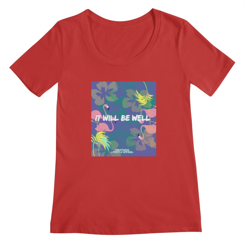 Somewhere In The Tropics Women's Regular Scoop Neck by ChristGang Apparel