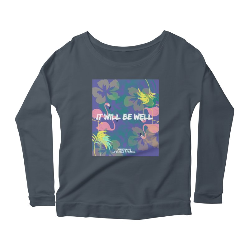 Somewhere In The Tropics Women's Scoop Neck Longsleeve T-Shirt by ChristGang Apparel