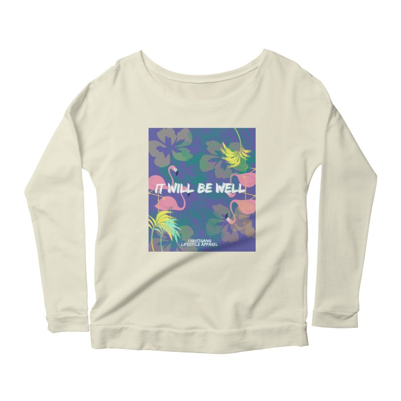 Somewhere In The Tropics Women's Longsleeve Scoopneck  by ChristGang Apparel