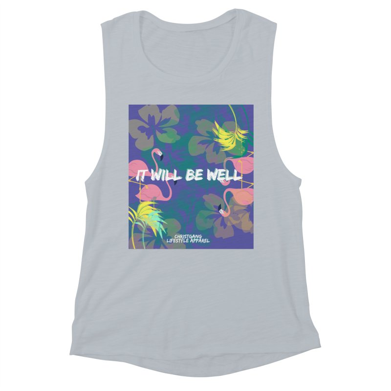 Somewhere In The Tropics Women's Muscle Tank by ChristGang Apparel