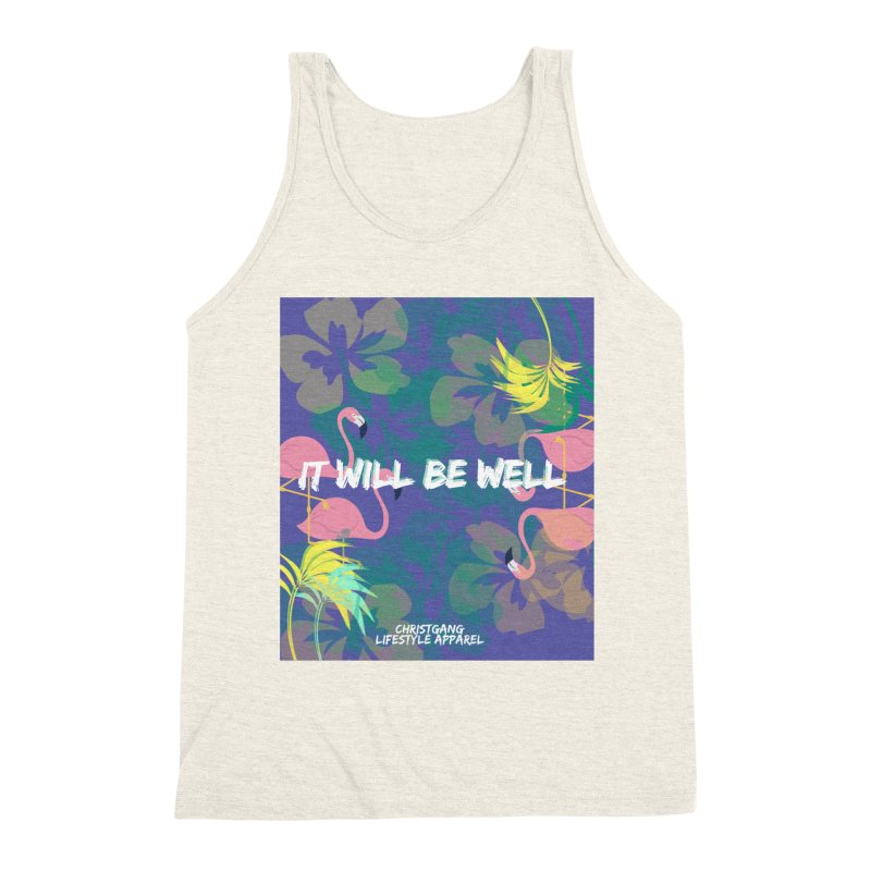Somewhere In The Tropics Men's Triblend Tank by ChristGang Apparel