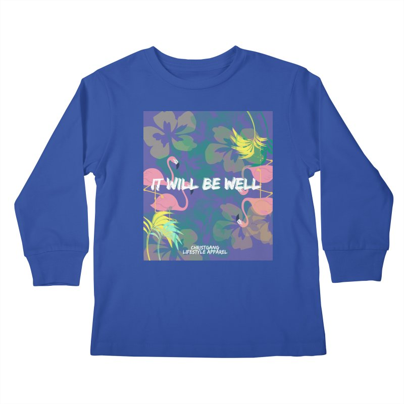 Somewhere In The Tropics Kids Longsleeve T-Shirt by ChristGang Apparel