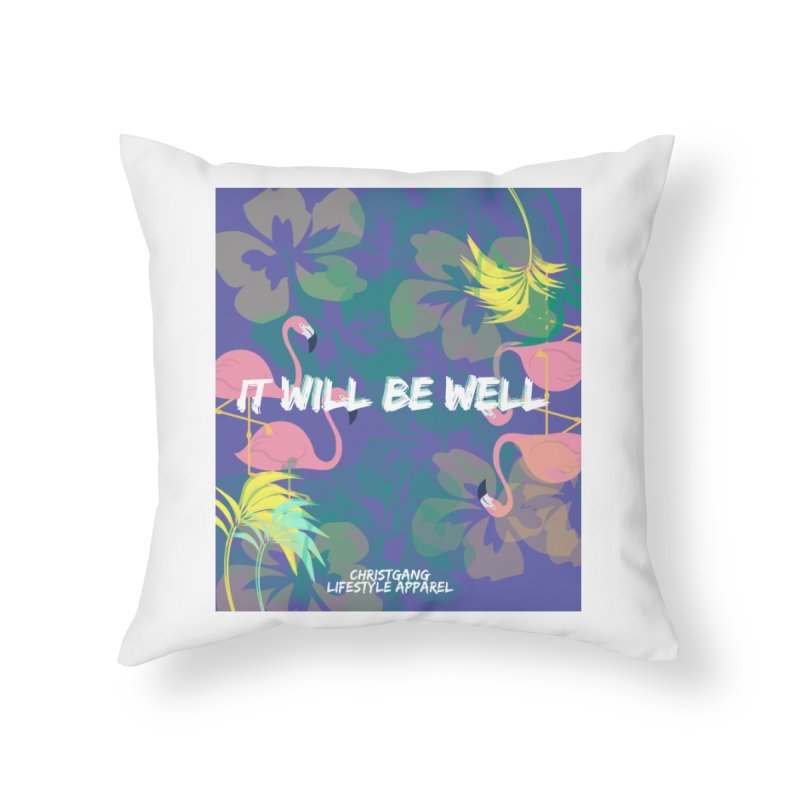 Somewhere In The Tropics Home Throw Pillow by ChristGang Apparel