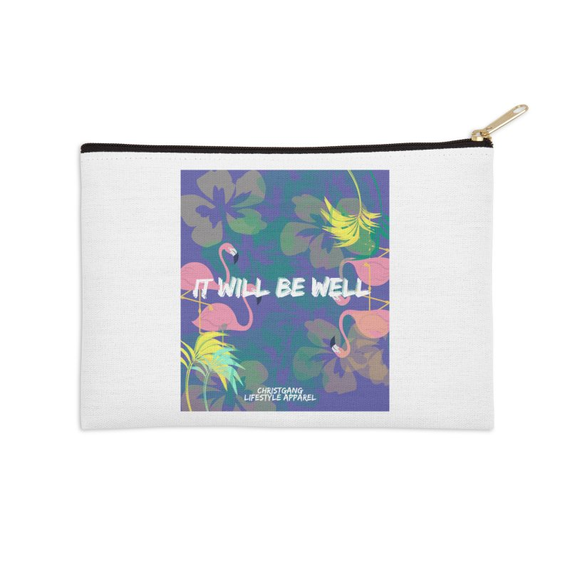 Somewhere In The Tropics Accessories Zip Pouch by ChristGang Apparel