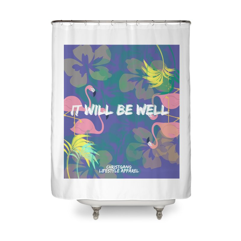 Somewhere In The Tropics Home Shower Curtain by ChristGang Apparel